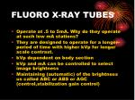 fluoro x ray tubes