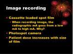 image recording