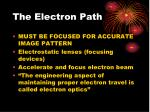 the electron path