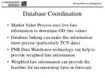 database coordination