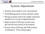 systems adjustments