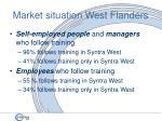 market situation west flanders