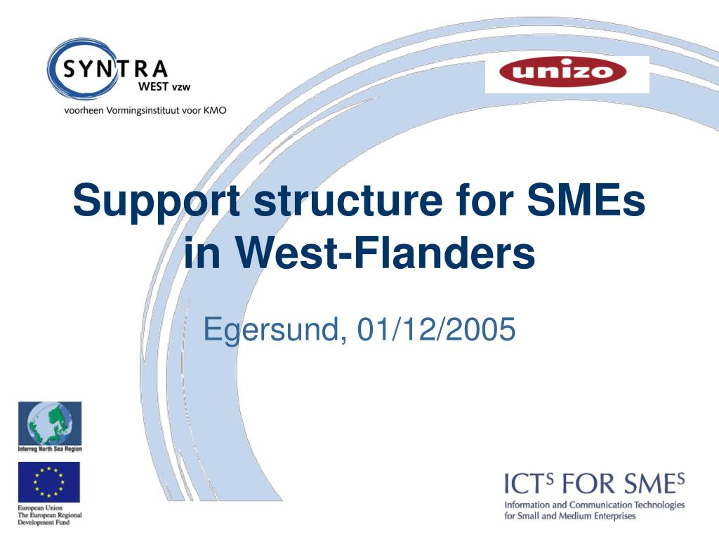 support structure for smes in west flanders l.