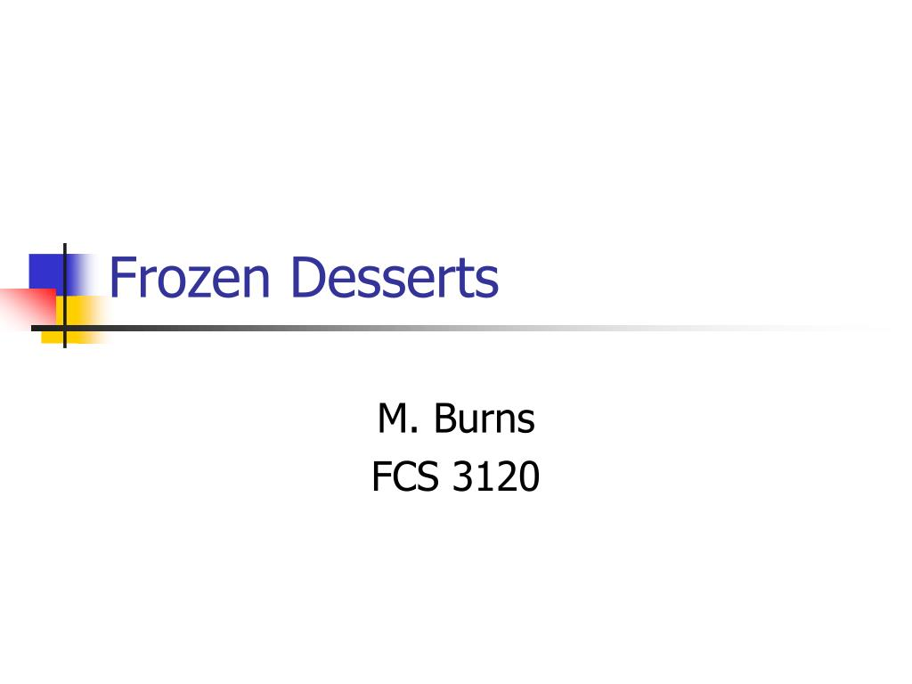 frozen desserts l.