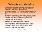 networks and statistics
