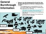 general burnthrough information