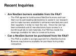 recent inquiries