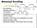 bimanual scrolling