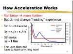 how acceleration works
