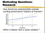 motivating questions research