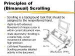principles of bimanual scrolling