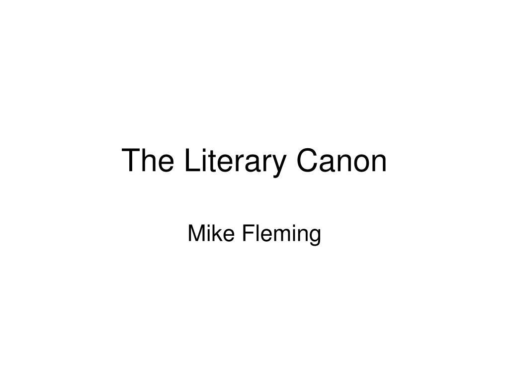 the literary canon l.