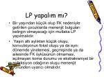 lp yapal m m