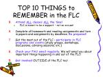 top 10 things to remember in the flc4