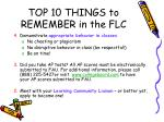 top 10 things to remember in the flc5