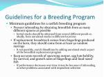 guidelines for a breeding program29