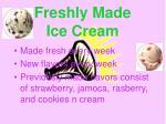 freshly made ice cream