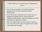 a brief history of evolutionary computation cont10