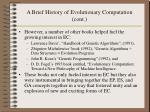 a brief history of evolutionary computation cont11