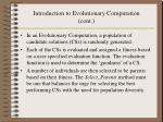 introduction to evolutionary computation cont5