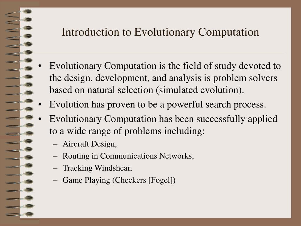 introduction to evolutionary computation l.