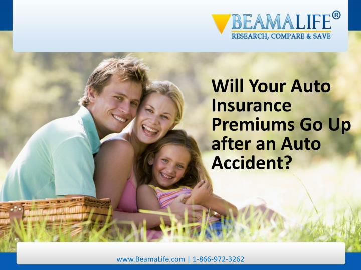 Will Your Auto Insurance Premiums Go Up after an Auto Accident?