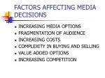 factors affecting media decisions