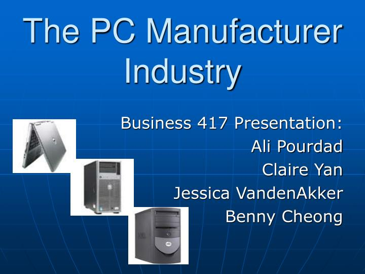 the pc manufacturer industry n.