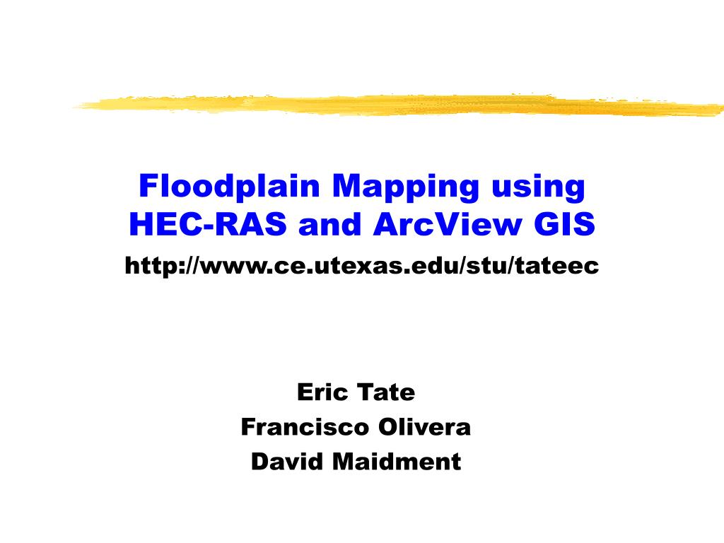 floodplain mapping using hec ras and arcview gis l.