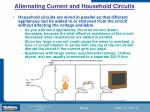 alternating current and household circuits75