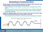 generating a transverse wave