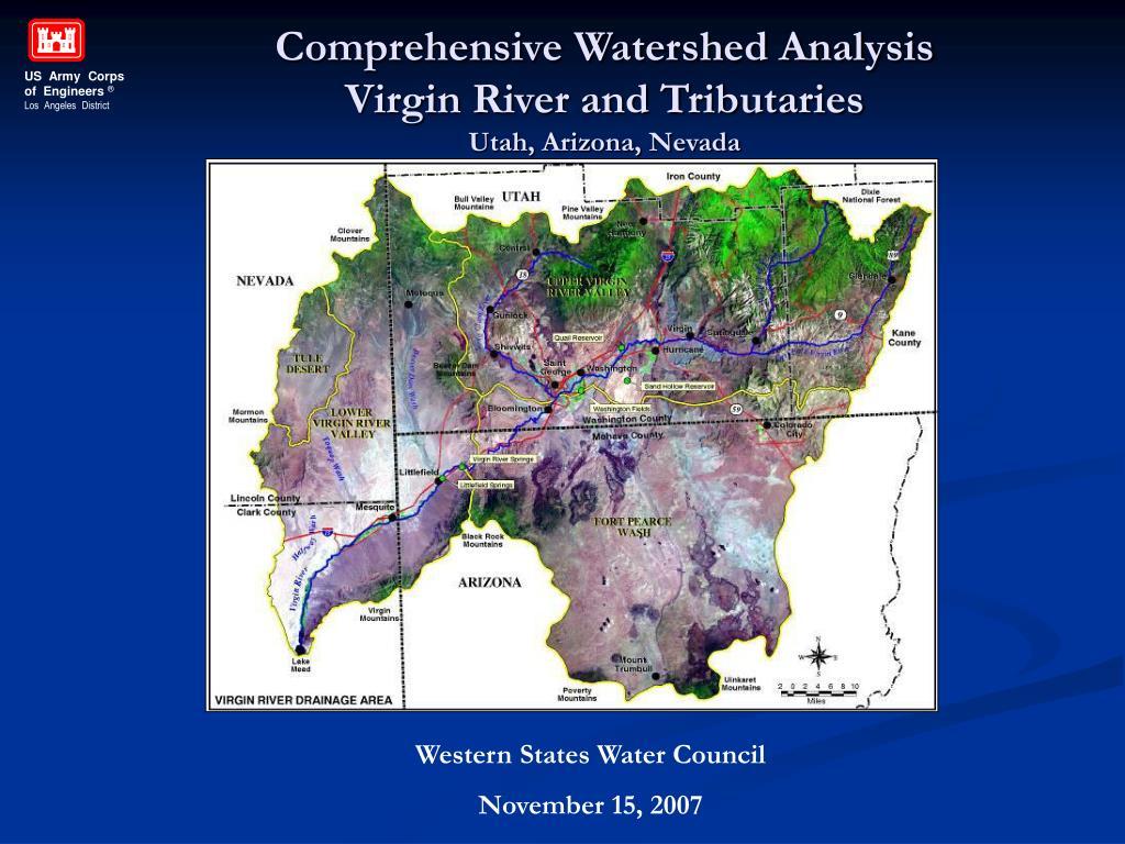 comprehensive watershed analysis virgin river and tributaries utah arizona nevada l.