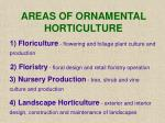 areas of ornamental horticulture