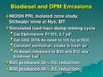 biodiesel and dpm emissions