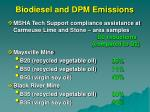 biodiesel and dpm emissions52
