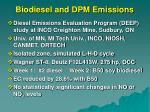 biodiesel and dpm emissions58