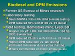 biodiesel and dpm emissions59