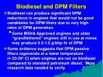 biodiesel and dpm filters