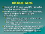 biodiesel costs