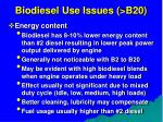biodiesel use issues b2071