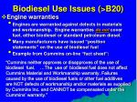 biodiesel use issues b2072