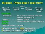 biodiesel where does it come from