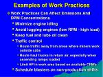 examples of work practices