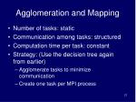 agglomeration and mapping