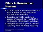 ethics in research on humans40