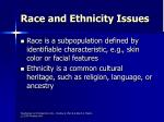 race and ethnicity issues