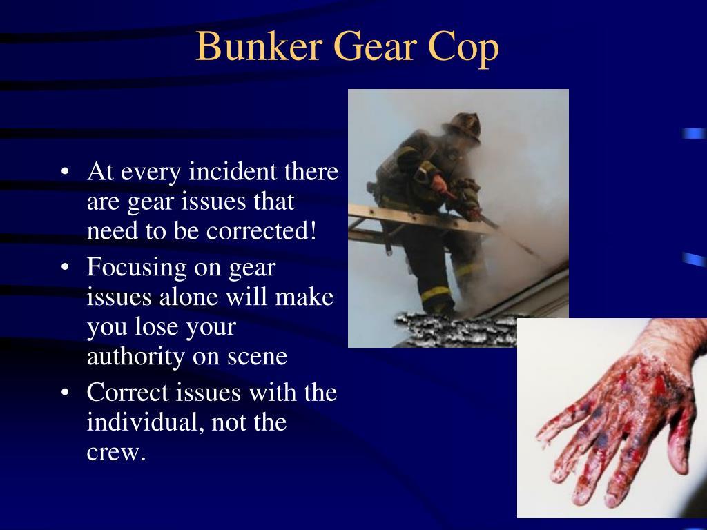 Bunker Gear Cop