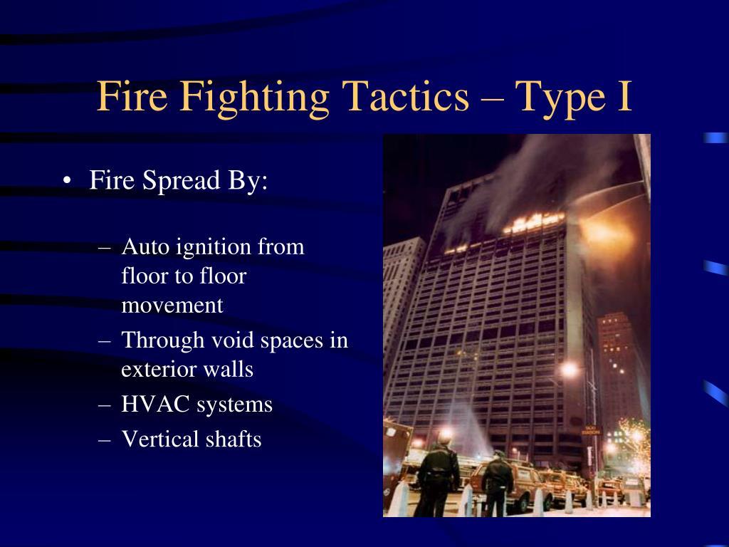 Fire Fighting Tactics – Type I