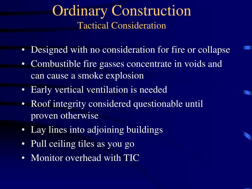 Ordinary Construction