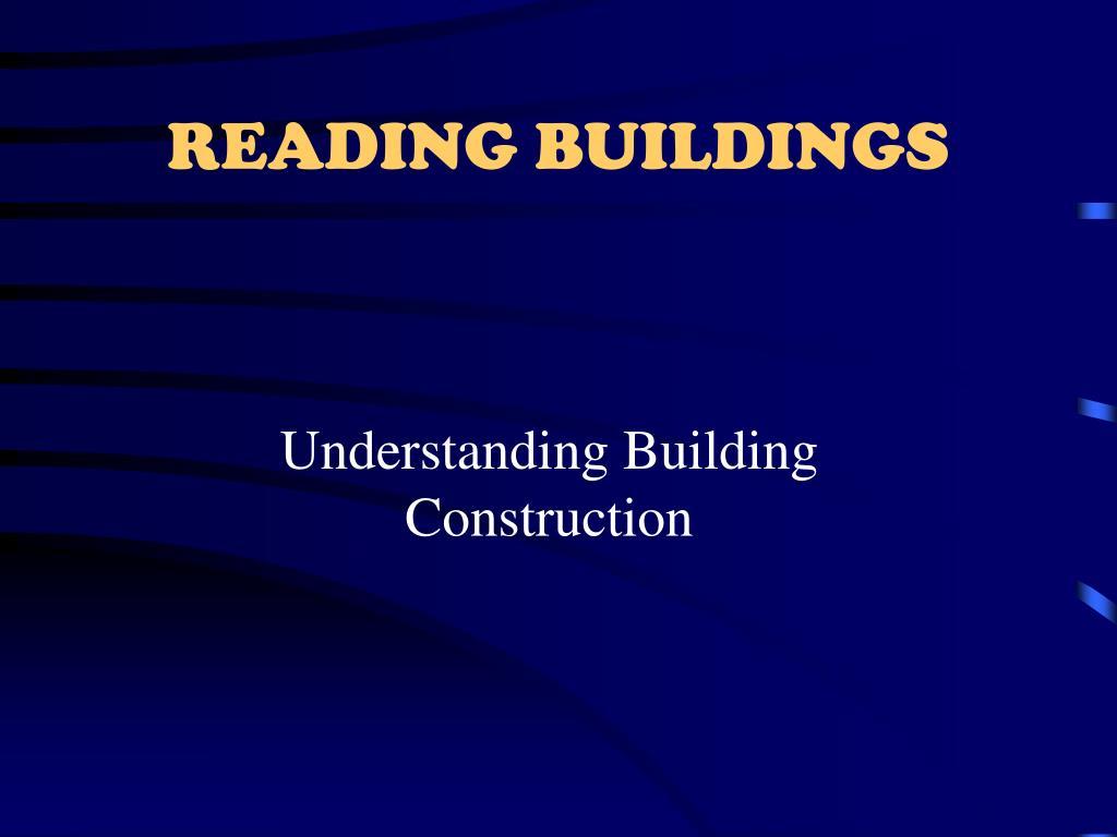 READING BUILDINGS
